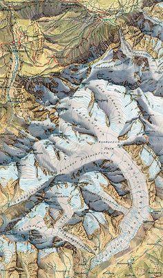 Jungfraugruppe by Eduard Imhof