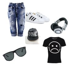 """Bez naslova #16"" by alem-nuhanovic ❤ liked on Polyvore featuring Marc by Marc Jacobs, Dsquared2, adidas, Panasonic and Ray-Ban"