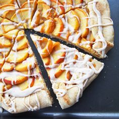 Peaches and Cream Galette