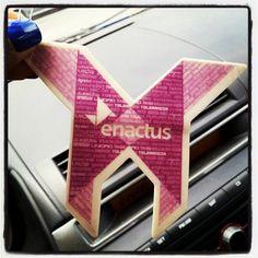 @zidalys210 #enactus, #enactuspr, #airfreshner, #purple, #origami