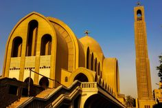 The Orthodox Coptic church has condemned Sunday's terrorist attack in the precincts of the Abbasia-based Cathedral. Sacred Architecture, Church Architecture, Religious Architecture, Cairo Egypt, Place Of Worship, Vintage Pictures, Taj Mahal, Cathedral, Building