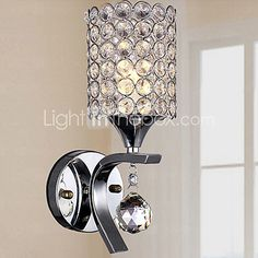 Wall Sconces Crystal/LED Modern/Contemporary Metal - USD $48.32