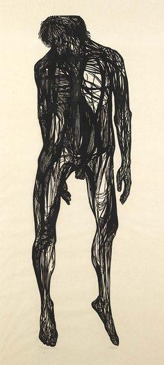 Leonard Baskin, Hanged Man, 1955