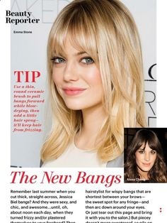 Haircut fringe bangs emma stone ideas for 2019 – Best Frisuren Haare Cute Haircuts, Girl Haircuts, Hairstyles With Bangs, Pretty Hairstyles, Emma Stone Hairstyles, Bangs With Ponytail, High Forehead Hairstyles, Medium Haircuts, Hairstyles 2016