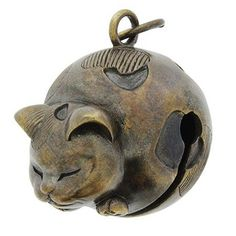 Japanese cat bell (silver)