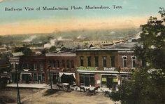TN Tennessee Tenn Murfreesboro Manufacturing Plants Rutherford County Postcard
