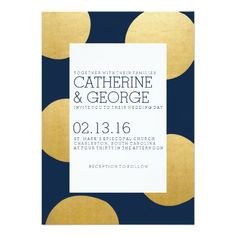 Gold Spots | Modern Wedding Invitation