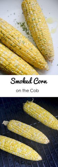 Smoked Corn on the Cob Recipe Diaries - Zucchini Recipes Grilled Vegetable Recipes, Grilled Vegetables, Veggies, Smoking Vegetables, Traeger Recipes, Grilling Recipes, Grilling Tips, Smoked Corn On The Cob Recipe, Stovetop Smoker