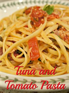 Tuna and tomato pasta shot