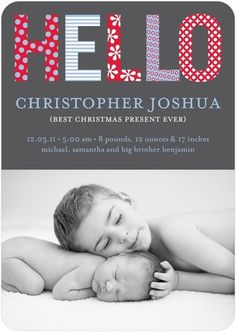 Christmas card/baby announcement
