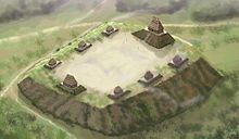 Emerald Mound Site - On Natchez Trace, was built by the Plaquemine Culture, whose descendants include the natchez and Cherokee tribes. Note similarity to Mayan temple sites and pyramids on Yucatan peninsula, such as Pyramid of the Magi.
