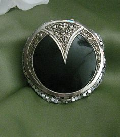 Flapper Art Deco Compact by TheEclecticDiva on Etsy