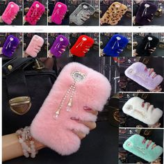 Cheap phone cherry, Buy Quality phone case bling directly from China phone case wallet droid Suppliers: Pink Rabbit Hair Case For oneplus one Winter Covers Fur Rhinestone Bling Plush Furry Hard SKin Fundas Capa Women Case wi