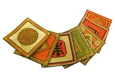 Hand-Knit Asian Coasters, S/7