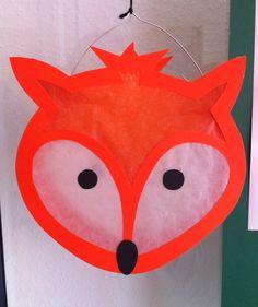 DIY vos lampion Animal Crafts For Kids, Craft Activities For Kids, Animals For Kids, Diy For Kids, Lantern Crafts, Fox Crafts, Paper Art, Paper Crafts, Halloween Lanterns
