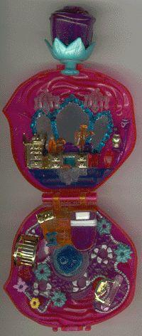 1996 - Polly Pocket Sweet Roses - Sparkle Surprise - Bluebird Toys    Mattel #16825