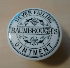 Rare Baumbrough's Never Failing Ointment pot lid and base