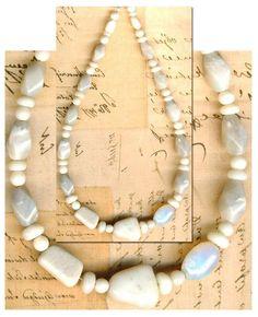 "Australian Cream Opal Beads 3 to 13mm~Coober Pedy ~Rondells~& Oval Beads 10"" st"