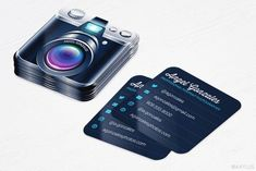 Mini Camera Business Cards - Photographer - Rounded Corners - Design and Printing - 2500 Unique Business Cards, Business Card Design, Photographer Business Cards, Photography Pricing, Wedding Photography, Letterpress Business Cards, Mini Camera, Calling Cards, Photoshop Design