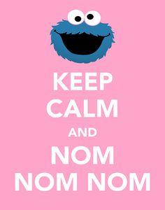 Custom 11x14 Keep Calm Print, Elmo & Cookie Monster, Sesame Street, Keep Calm Carry On, Home Decor
