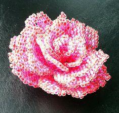 *P Pattern for beaded rose - scheme of the beaded rose - beading tutorial