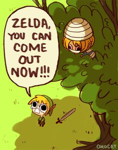 I love these pictures of Zelda and Link being little kids. SO CUTE!