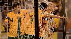 Socceroos Jordan, Bresciano does his 'Spartacus' celebration in the Jordan goal at Etihad Stadium, Melbourne, Australia Sports Scores, Cricket Score, Sporting Live, Fox Sports, Latest Sports News, Spartacus, Melbourne Australia, Celebrities, Brazil