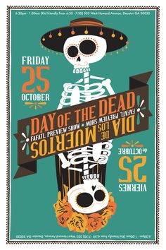 Reversible Day of the Dead / Dia de los Muertos I designed for an upcoming art show.
