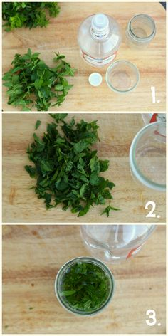 How to make your own mint extract-- I can't wait to try this with all the extra mint from my herb garden!