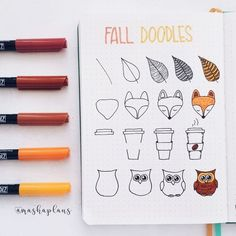 Masha easy fall doodle tutorial in my bullet journal bujo bulletjournal tutorial masha plansig Fall doodles how-to.These beautiful fall/autumn doodles are perfect for your bullet journal, scrap book or even greeting cards.ince it's a day off, I got t Bullet Journal Inspo, Bullet Journal 2019, Bullet Journal Ideas Pages, Bullet Journal Spending Tracker, Bullet Journal Lines, Autumn Bullet Journal, Bullet Journal Decoration, Bullet Journal Banner, Doodle Drawings