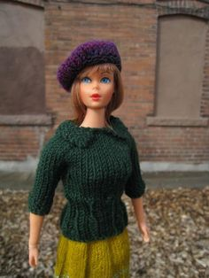 Looking for your next project? You're going to love Barbie Doll Sweater with Collar by designer KellyMullanDesigns. - via @Craftsy