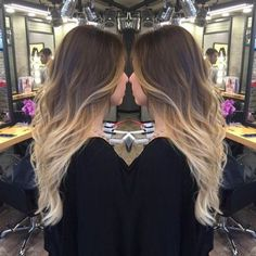 Brown to Blond Wavy Hairstyle