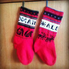 Les chaussettes de Noël pour mes loulous!