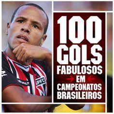 16.11.2014 - Luis Fabiano chega a 100 gols no Campeonato Brasileiro com a camisa do São Paulo ao marcar contra o Palmeiras