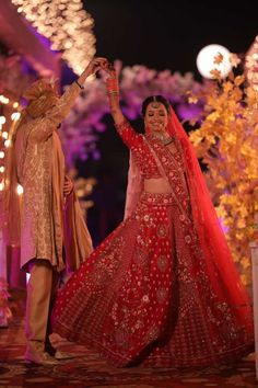 This Cross Culture Wedding Had The Most Gorgeous Couple Outfits & Bridal Jewellery To Swoon Over - Witty Vows Red Wedding Lehenga, Cute Couple Outfits, Green Lehenga, Couple Shots, Pink Gowns, Indian Wedding Photography, Lehenga Designs, Bridal Jewellery, Bridal Portraits