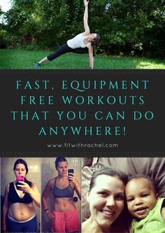 I know that when you have kids, it's HARD to workout. Getting to a gym is nearly impossible (the childcare at our local gym was scary and NOT going to happen lol), workout equipment can be expensive, and FINDING the TIME can be challenging!   #workouts #athomeworkouts #babyweight