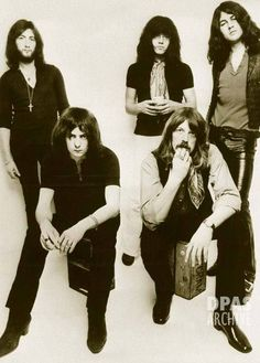 Deep Purple Black and White Band Photo