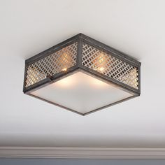 Radiator Grill Ceiling Light 3 choices - Shades of Light Modern Led Ceiling Lights, Ceiling Light Design, Semi Flush Ceiling Lights, Flush Mount Ceiling, Flush Mount Lighting, Ceiling Light Fixtures, Lighting Design, Ceiling Fans, Lighting Ideas