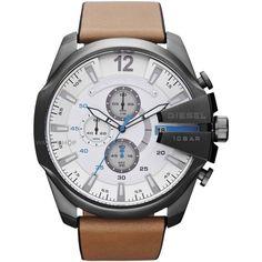 Diesel Mens Diesel Chief Series Analog Quartz Brown Watch