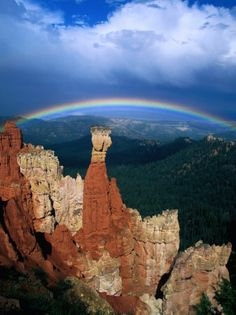 Rainbow Over Bryce Canyon, Bryce Canyon National Park, USA