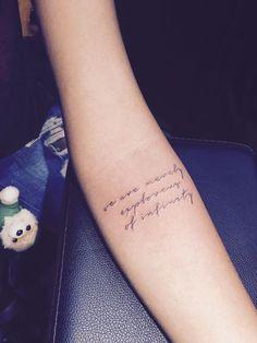 Script tattoo. Female tattoo artist Sumithra Debi. Johnny Two Thumb Pte Ltd. The Original Johnny Two Thumb Tattoo Family Since 1942. #johnnytwothumbfamily #johnnytwothumb #johnnytwothumbssingapore #sutattoo
