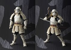 Now that Disney bought Star Wars, I hope they get a little bit riskier and produce new stuff loosely based on the classic trilogy. A Japanese version would look amazing, as these cool action figures demonstrate. It's only a natural step—as George Lucas' original saga was directly influenced by Kurosawa's work.