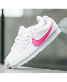 pretty nice e3cb1 bd37e Nike Cortez White Pink Blast Athletic Trainers Outlet UK Nike Cortez Rose, Nike  Cortez White