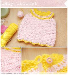 crochet baby dress idea