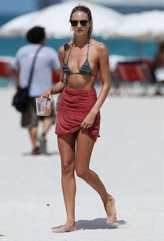 Candice Swanepoel Gets Wet on the Beach in Miami – July 3rd, 2012