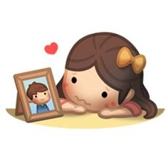HJ-Story: Us Together sticker Hj Story, Cute Couple Cartoon, Cute Cartoon, Cartoon Images, Love Images, Love Pictures, Love Is, True Love, Long Distance Love