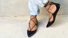 Top 5 Lace-Up Pointy Flats