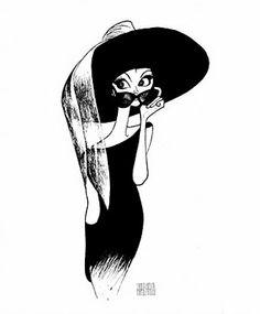 Audrey Hepburn as Holly Golightly Arte Audrey Hepburn, Audrey Hepburn Painting, Audrey Hepburn Illustration, Audrey Hepburn Tattoo, Holly Golightly, Sammy Davis Jr, Caricature Artist, Great Works Of Art, Celebrity Caricatures