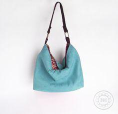 4c8e751837 Teal Hobo - Turquoise Vegan suede slouch bag - Handmade handbag - Pick your  COLOR -