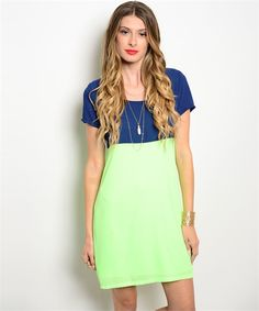 Perfect Colorblock Dress in Lime - Summer fashion 2015. www.psiloveyoumoreboutique.com